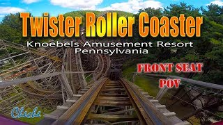 Twister Roller Coaster Knoebels On Ride POV