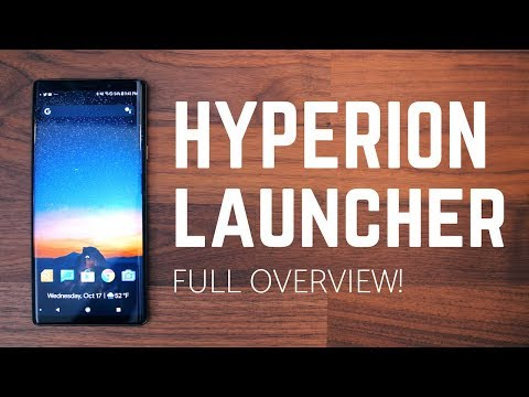 Hyperion Launcher Full Overview! A Nova Competitor?