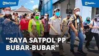 Aksi Nyeleneh Gibran saat Kunjungi Vaksinasi di Keraton Solo, 'Saya Satpol PP, Bubar-bubar'