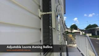 Striped Adjustable Louvre Awning Ballina