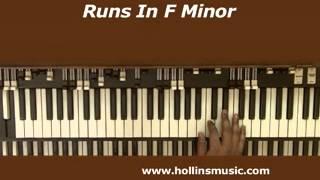 Free Organ Lesson On Runs In F Minor