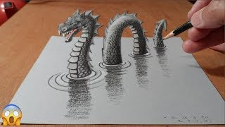 Very Easy!! How To Draw 3D Painting Easy