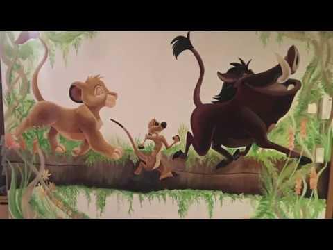 Der König der Löwen - Wandmalerei - Step by step - Victorias Traumwand