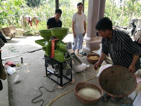 Máy Chà Gạo Mini Hai Chức Năng Đới Mới Nhất