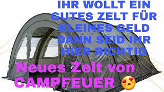 Unser neues Zelt, Campfeuer.  Unboxing Video  | Dennis black
