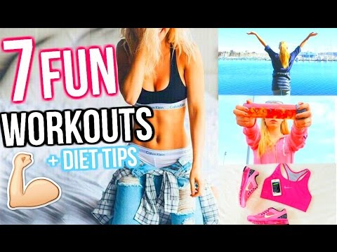 Video GET BIKINI BODY READY! 7 Fun Ways To Get Healthy and Lose Weight! Fun Workout Routines & Activities!