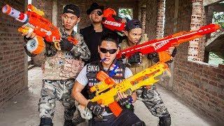 LTT Nerf War : SEAL X Warriors Nerf Guns Fight Criminal Group Dr Lee Alone Attack