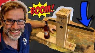 Scrap Wood Project! CRAZY Bottle Opener…Catapult Style!!