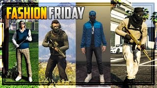 GTA 5 FASHION FRIDAY! 25 NEW OUTFITS! (Watch Dogs 2, Better Military Outfits, Golf Club & MORE!)