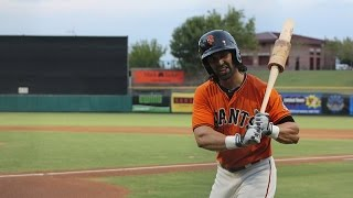 SF Giants Angel Pagan rehab game | AZL Giants 2014
