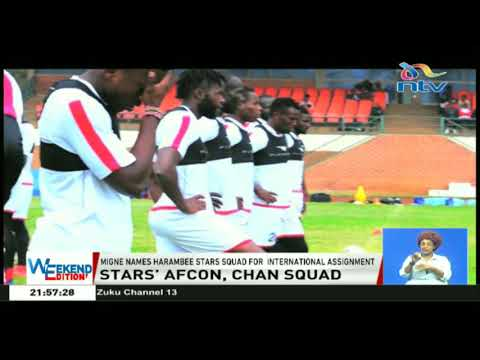 Coach Migne names Harambee stars squad for an international assignment