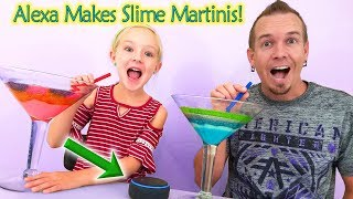 Alexa Picks My Slime Ingredients Challenge!! Slime Martini Smoothie!