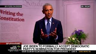 Joe Biden to formally accept nomination to be Democratic Party's President