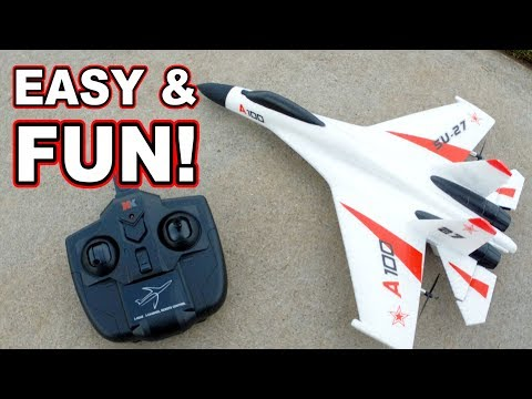 XK A100 SU27 Beginner RC Plane Review ✈️