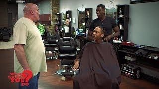 A white coach demands a barber cut a black student athlete's braids. The student becomes upset, but the coach says short hair will avoid potential issues with the refs. What will customers think?   WATCH FULL EPISODES OF WWYD: https://abc.go.com/shows/what-would-you-do  Watch brand new WWYD episodes on Friday at 9PM on ABC!  SUBSCRIBE to WWYD ► http://bit.ly/WWYDSubs  Follow What Would You Do? across the web! Facebook: https://www.facebook.com/wwyd  Twitter: https://twitter.com/WWYDABC  Instagram: https://instagram.com/wwydabc/   What would you do when you think no one is watching? What Would You Do? (WWYD?) explores the varying answers with the help of hidden cameras capturing individuals who have been placed within seemingly everyday situation that quickly go awry. The individuals on this hidden camera show are forced to make tough calls when directly faced with situations of racism, violence, hate crimes, and other hot button cultural issues. Catch John Quinones reporting on these individuals as they make split-second decisions to intervene or mind their own business. WWYD? airs Friday nights at 9|8c on ABC.   #WhatWouldYouDo #WWYD #SocialExperiment #ABC #Barbershop #HairCut #Wrestling