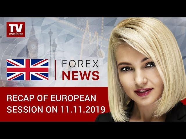 11.11.2019: GBP gains ground despite weak economic reports (GBP, USD, EUR)