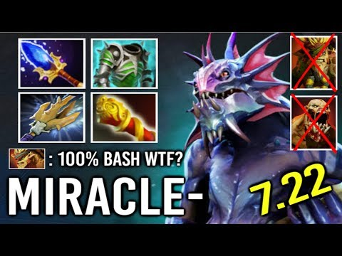 This is How Miracle- Pro Slardar Scepter Make Top Rank Enemy Rage Smurf Acc Super Bash 7.22 Dota 2