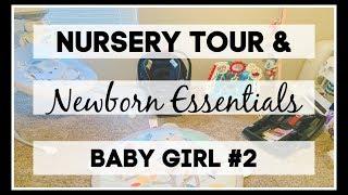 Baby Girl Nursery Tour & Newborn Essentials | 2019 |