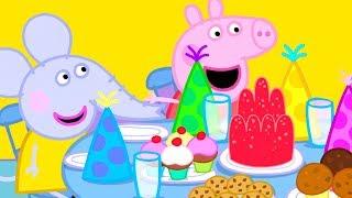 Peppa Pig En Español   O ANIVERSÁRIO DE EDMOND ELEFANTE   Día De Los Niños   Dibujos Animados