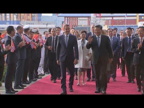 Επίσκεψη του Κινέζου Προέδρου της επίσκεψής τους στις εγκαταστάσεις της COSCO