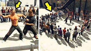 إكتشفت نادي للمعارك في جي تي أي 5 شاهد كيف دمرت الجميع | GTA V Fight Club Mod