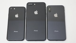 Apple iPhone 8 vs Apple iPhone 8 Plus vs Apple iPhone X