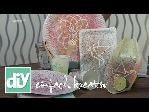 Partygeschirr selbst gestalten | DIY einfach kreativ