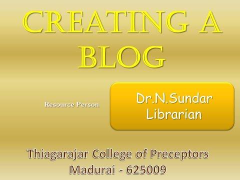 Creating Blog Using Blogger