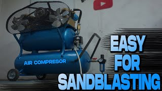 DIY Air Compressor for SANDBLASTING Homemade 👆Monster👆Prva Petoletka