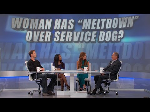 Woman Has Meltdown over Service Dog?