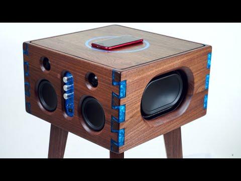 Epoxy Inlay Dovetails Bluetooth Speaker Build