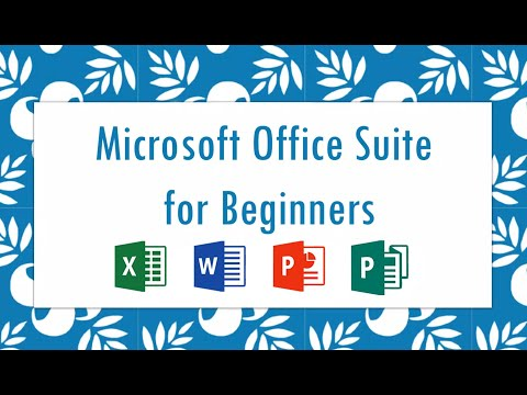 Microsoft Office Suite for Beginners - YouTube