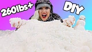 INSANE 260lbs+ DIY SNOW! Holiday Fun Sledding Inside My House!! 100+ | NICOLE SKYES