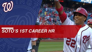 19-year-old rookie Juan Soto's first MLB homer - Video Youtube
