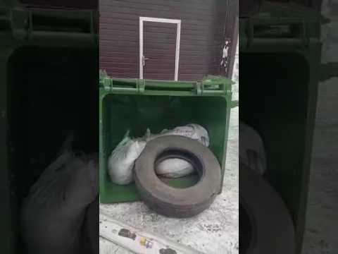 Испытание пластикового евроконтейнера ESE 1100 литров на прочность