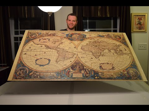 Old Globe - Ravensburger Puzzle 5000 Pieces - Assembly Timelapse