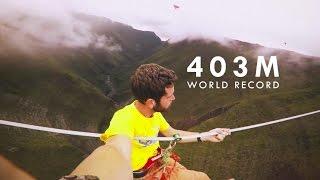 Nathan Paulin Sets 403m Highlining World Record
