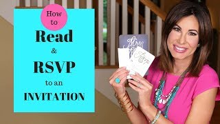 How to PROPERLY READ and RSVP to an INVITATION | TRACY HENSEL