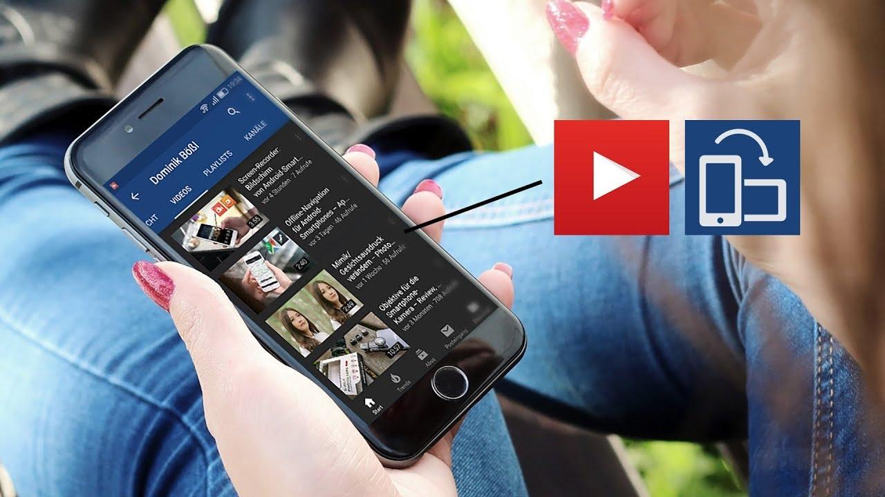 Vertikale Videos auf YouTube mit hochformatiger Anzeige in der App