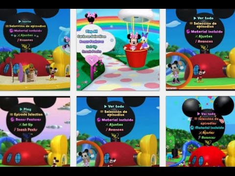 Top 10 Mickey Mouse Clubhouse DVD MENUS Disney Junior