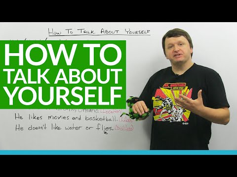 Basic English Lesson: How to Talk about Yourself
