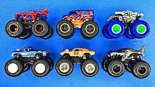 New Monster Trucks for Kids - Learn 2019 Hot Wheels Monster Truck Names & Colors - Organic Learning