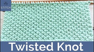 Twisted Knot Knitting Stitch: A Four-row Repeat Pattern That Doesnt Curl - So Woolly