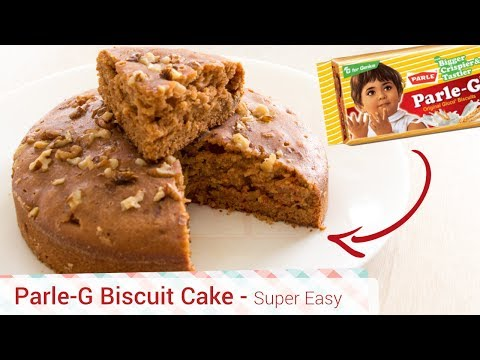 Video Best Parle-G Biscuit Cooker Cake Recipe - Easy, Cheap, Simple cake. eggless biscuit cake in cooker