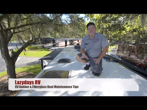 Rubber & Fiberglass RV Roof Maintenance Tips