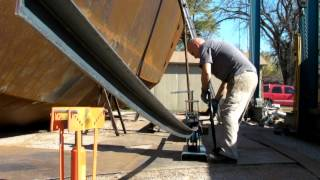 DIY Roller Bending Angle Iron