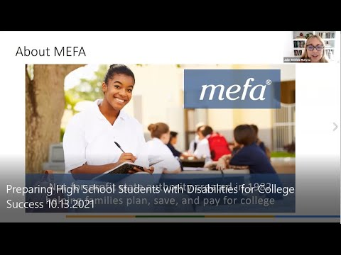 The MEFA Institute: Preparing High School Students with Disabilities for College Success