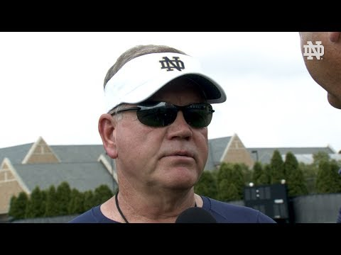 @NDFootball | Brian Kelly Interview (8.13.19)