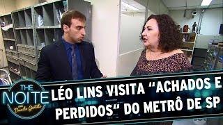 Léo Lins visita os achados e perdidos do metrô de SP | The Noite (24/05/17)
