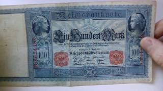 Old German 1910 100 (Gold) Mark Banknote